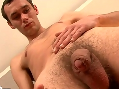 Young asshole looks good in solo settle involving video