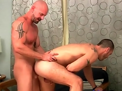 Fucked by a bald guy and doting every inch
