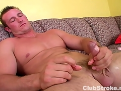 Muscular Straight Cadger Danny Masturbating