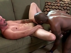 Interracial anal daddy fuck and facial porn