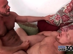 Hairy men fuck hard dicks into tight assholes