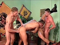 Anal orchestrate sex with hard multitude gay guys