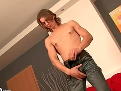 Stripping young guy with long crawl is sexy