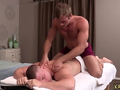 Tattooed hunk dude Blake keeps Brodie relaxed by giving him a perfect making massage. Blake tries Brodie constant cock in the sky his throat.