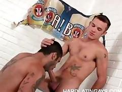 Muscled Gay Latinos Deep Anal
