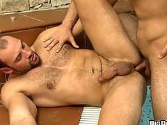 he loves to lick and drag inflate dicks but today is assfuck day in the pool!