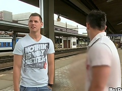 Stunning guys fucking each other in front railway station, enjoy