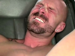 Straight amateur blowing his creamy load after anal