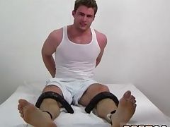 Black boy pissing on feet and cums on feet gay full length Leon's