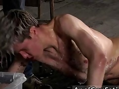 Twit red head gay porn star full length Chained to the warehouse