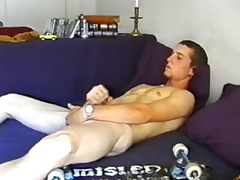 Young Adam Strokes Off and Cums Big - DefiantBoyz