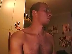 Str8 guy (almost) busted exposing on webcam by sister