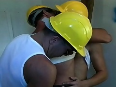 Two lustful workers are joined by a sexy cop for a hot gay threesome