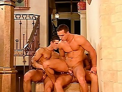 Hunky millionaire stud plays out his gay fantasies with two hot guys