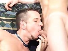 Attractive twinks worship each other's cocks and primate sex toys